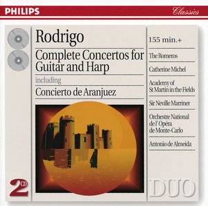 Joaquín Rodrigo / Complete Concertos for Guitar and Harp / Academy of St Martin in the Fields / Neville Marriner / Orchestre National de l'Opéra de Monte-Carlo / Antonio de Almeida