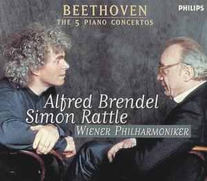 Ludwig van Beethoven / Piano Concertos (Complete) / Alfred Brendel / Simon Rattle 3CD