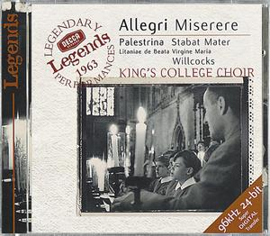 Gregorio Allegri / Miserere, etc. / King's College Choir / Sir David Willcocks