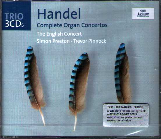 Georg Friedrich Händel / Complete Organ Concertos / Simon Preston / The English Concert / Trevor Pinnock