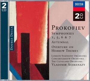 Sergei Prokofiev / Symphonies 1, 5, 6 & 7 ym. / London Symphony Orchestra / Concertgebouw Orchestra / The Cleveland Orchestra / Vladimir Ashkenazy 2CD
