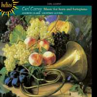 Carl Czerny: Complete Music for Horn and Fortepiano / Andrew Clark, horn / Geoffrey Govier, fortepiano