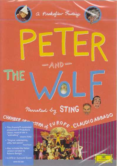 Sergei Prokofiev / Peter and the Wolf / Chamber Orchestra of Europe / Claudio Abbado / Sting DVD