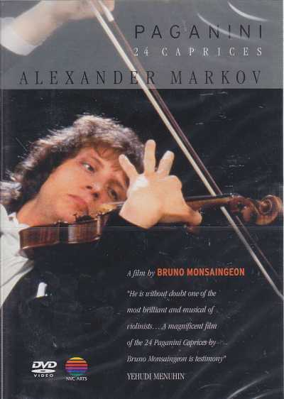 Niccolò Paganini / 24 Caprices for violin solo / Alexander Markov / Bruno Monsaingeon DVD