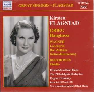 Edvard Grieg / Richard Wagner / Ludwig van Beethoven / Songs and Arias / Kirsten Flagstad