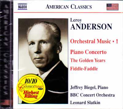 Leroy Anderson / Orchestral Music vol. 1 / BBC Concert Orchestra / Leonard Slatkin