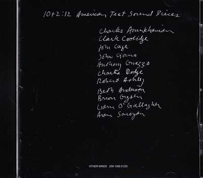 10+2: 12 American Text Sound Pieces / Charles Amirkhanian / John Cage / Charles Dodge / Robert Ashley et al.