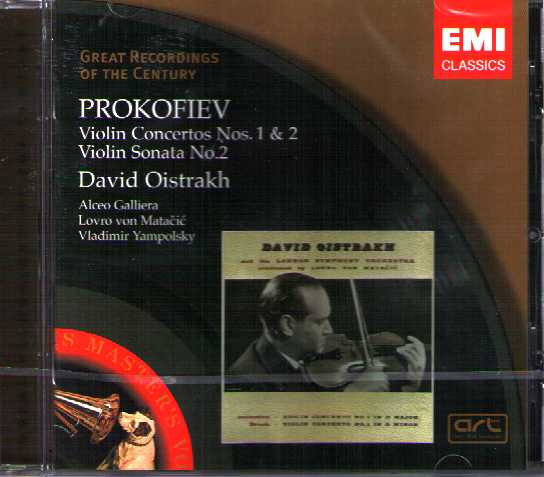 Sergei Prokofiev / Violin Concertos / David Oistrakh / Philharmonia Orchestra / Great Recordings of the Century