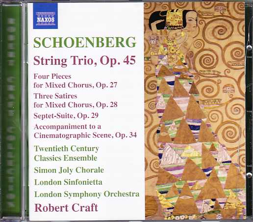 Arnold Schoenberg / String Trio / Septet-Suite / Robert Craft