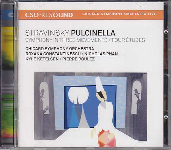 Igor Stravinsky / Pulcinella / Symphony in Three Movements / Four Études / Chicago Symphony Orchestra / Pierre Boulez SACD