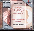 W.A. Mozart / Symphonies Nos. 31 & 38 / Royal Concertgebow Orchestra / Josef Krips SACD