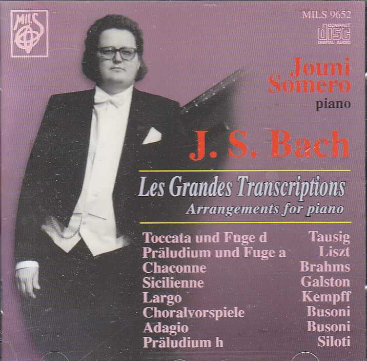J.S. Bach / Jouni Somero / Arrangements for Piano