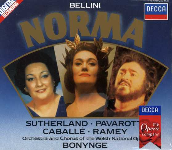Vincenzo Bellini / Norma / Joan Sutherland / Luciano Pavarotti / Orchestra and Chorus of the Welsh National Opera / Richard Bonynge 3CD