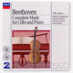 Ludwig van Beethoven / Complete Music for Cello and Piano / Mstislav Rostropovich / Svjatoslav Richter 2CD