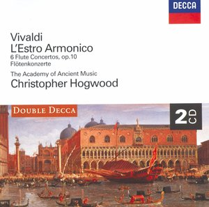 Antonio Vivaldi / L'estro Armonico / 6 Flute Concertos / The Academy of Ancient Music / Christopher Hogwood 2CD
