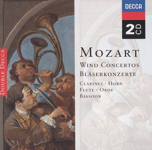 W.A. Mozart / Wind Concertos // Barry Tuckwell / David McGill / John Mack / Gervase de Peyer / London Symphony Orchestra / English Chamber Orchestra / The Cleveland Orchestra