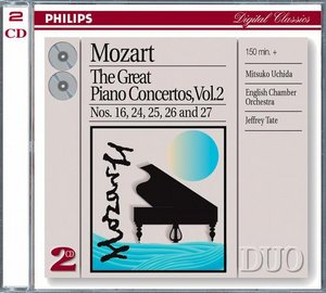 W.A. Mozart / Piano Concertos 16 & 24-27 (Great Piano Concertos Vol. 2) / Mitsuko Uchida / English Chamber Orchestra / Jeffrey Tate