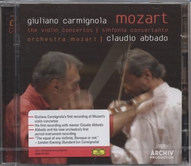 W.A. Mozart / The Violin Concertos / Giuliano Carmignola / Claudio Abbado 2CD