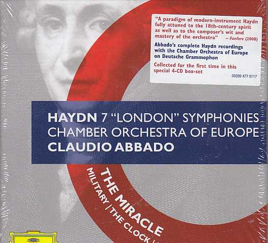 Joseph Haydn / The 7 London Symphonies / Chamber Orchestra of Europe / Claudio Abbado