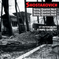 Dmitri Shostakovich / String Quartets 4, 6 & 8 / St Petersburg String Quartet