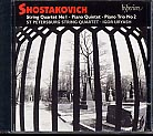 Dmitri Shostakovich / String Quartet No. 1 / Piano Trio No. 2 / Piano Quintet / St Petersburg String Quartet / Igor Uryash