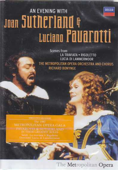 An Evening with Joan Sutherland and Luciano Pavarotti / Scenes from La Traviata, Rigoletto, Lucia di Lammermoor DVD