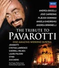The Tribute to Luciano Pavarotti / One amazing weekend in Petra / Andrea Bocelli / José Carreras / Plácido Domingo / Angela Gheorghiu / Andrea Griminelli / Prague Philharmonia / Eugene Kohn Blu-ray Disc