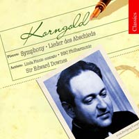 Erich Wolfgang Korngold / Symphony / Lieder / Finnie / BBC Philharmonic Orchestra / Edward Downes