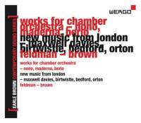 Earle Brown - A Life in Music: Contemporary Sound Series, vol. 2 / Luigi Nono / Bruno Maderna / Luciano Berio / Harrison Birtwistle / Morton Feldman et al. 3CD