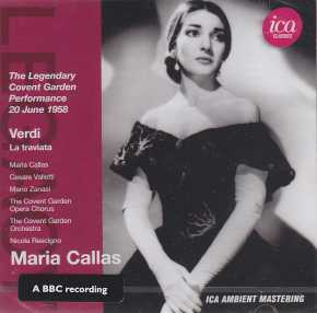 Giuseppe Verdi / La Traviata / Maria Callas / Cesare Valletti / The Covent Garden Orchestra / Nicolo Rescigno 2CD