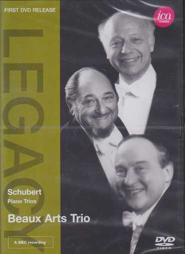 Franz Schubert / Piano Trios (Complete) / Beaux Arts Trio DVD