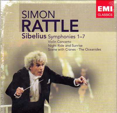 Jean Sibelius / Symphonies (Complete) / Violin Concerto, etc. / Nigel Kennedy / City of Birmingham Symphony Orchestra / Sir Simon Rattle 5CD