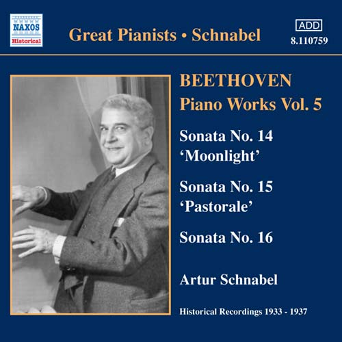 Ludwig van Beethoven / Piano Works Vol. 5 / Artur Schnabel