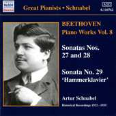 Ludwig van Beethoven / Piano Works vol. 8 / Artur Schnabel