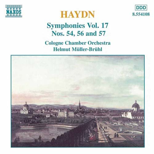Joseph Haydn / Symphonies 54, 56 & 57 / Cologne Chamber Orchestra / Helmut Müller-Brühl
