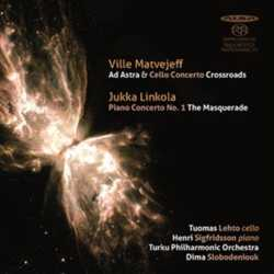 Ville Matvejeff / Ad Astra / Cello Concerto / Crossroads / The Masquerade / Jukka Linkola / Piano Concerto // Tuomas Lehto / Henri Sigfridsson / Turku Philharmonic Orchestra / Dima Slobodeniuk