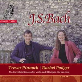 J.S. Bach / Sonatas for Violin and Harpsichord, vol. 1 / Rachel Podger / Trevor Pinnock