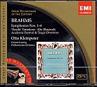 Johannes Brahms / Symphonies (Complete), etc. / Otto Klemperer / Great Recordings of the Century