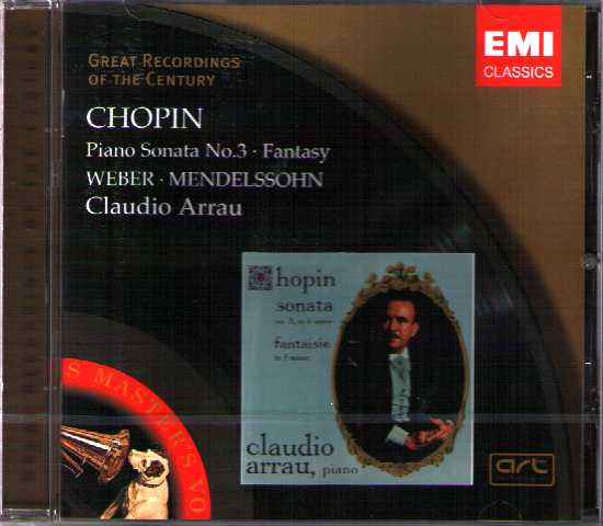 Frédéric Chopin / Piano Sonata no. 3, etc. / Claudio Arrau