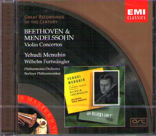 Ludwig van Beethoven / Violin Concerto / Felix Mendelssohn / Violin Concerto in E minor / Yehudi Menuhin / Great Recordings of the Century