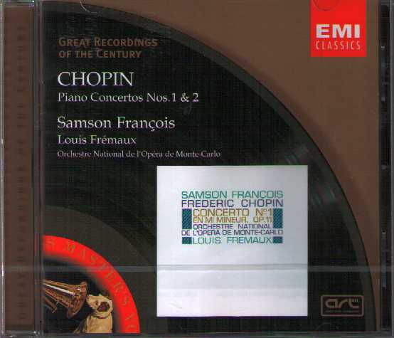 Frédéric Chopin / Piano Concertos 1-2 / Samson Francois / Great Recordings of the Century