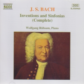 J.S. Bach / Inventions & Sinfonias / Wolfgang Rübsam