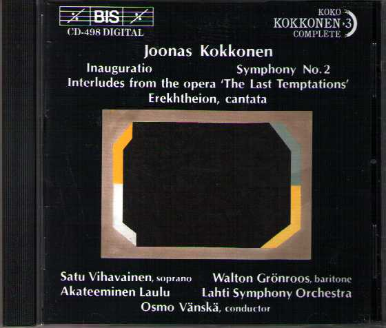 Joonas Kokkonen / Inauguratio / Symphony no. 2 / Interludes from