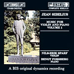 Jean Sibelius / Music for Violin and Piano, vol. 1 / Nils-Erik Sparf / Bengt Forsberg