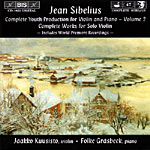 Jean Sibelius / Complete Youth Production for Violin and Piano, Vol. 2 / Jaakko Kuusisto / Folke Gräsbeck