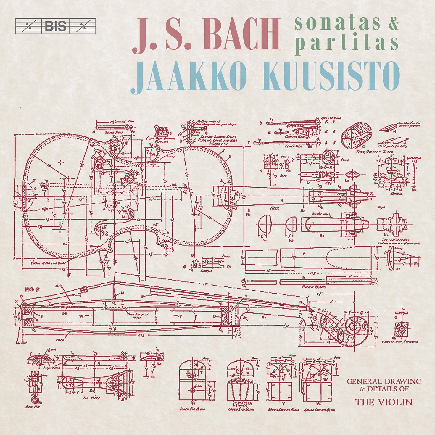 J.S. Bach / Sonatas and Partitas for Solo Violin  (Complete) // Jaakko Kuusisto