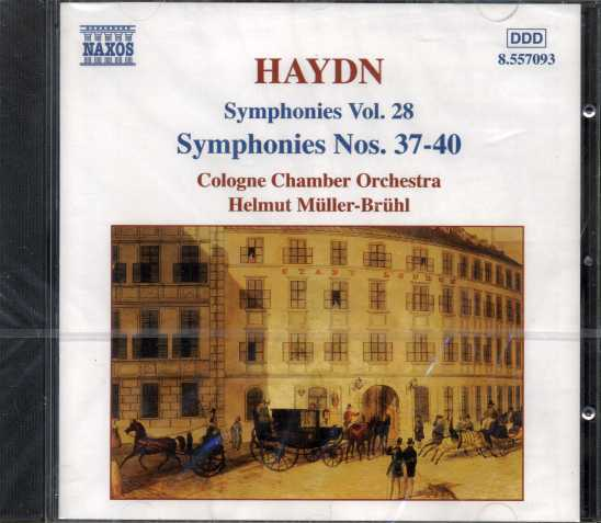Joseph Haydn / Symphonies Nos. 37-40 / Cologne Chamber Orchestra / Helmut Müller-Brühl