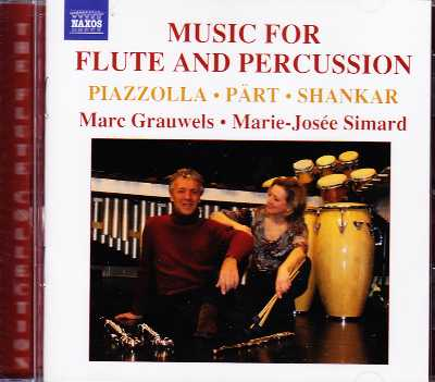 Music for Flute and Percussion / Marc Grauwels / Marie-Josée Simard