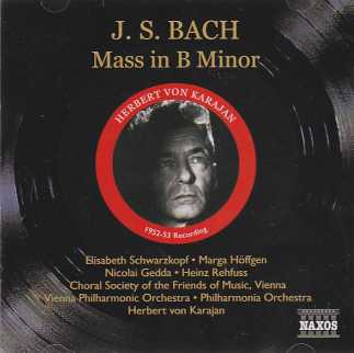 J.S. Bach / Mass in B Minor / Herbert von Karajan 2CD