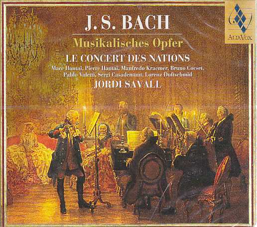 J.S. Bach / Musikalisches Opfer / Le Concert des Nations / Jordi Savall
